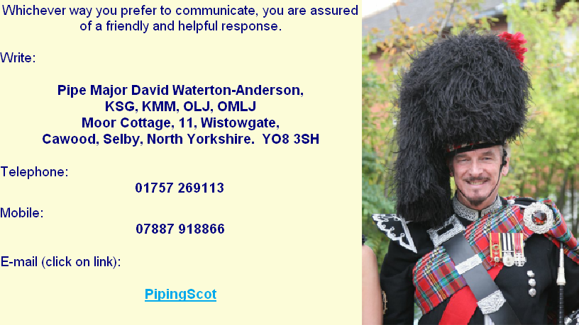 Yorkshire based friendly Piper