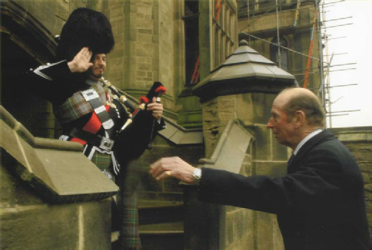 Allerton Castle with HRH The Duke of Kent (Colonel in Chief Scots Guards)