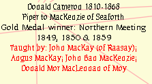 Donald Cameron 1810-1868