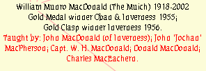 William Munro MacDonald (The Muich) 1918-2002